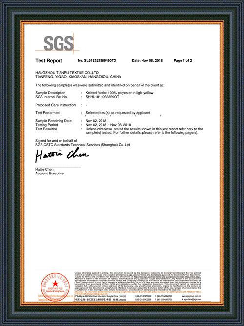 Informe de prueba de SGS
