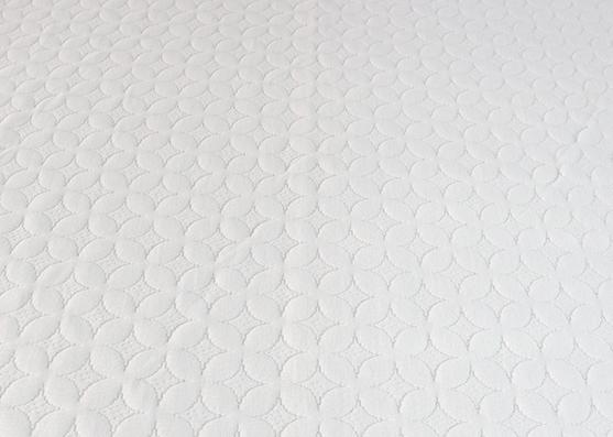 Ancho de alta calidad 220 cm 100% poliéster tejido de colchón blanco