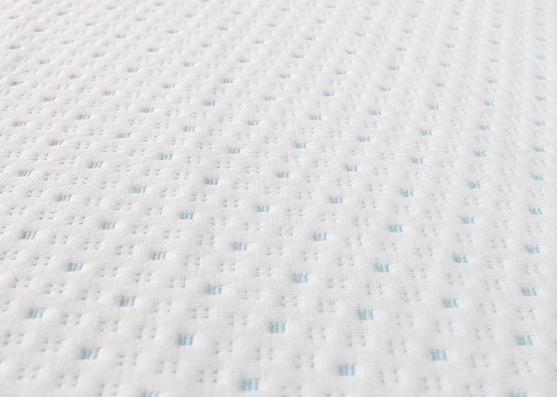 Tejido de punto azul 280gsm peso 100% poliéster jacquard tela de buena calidad