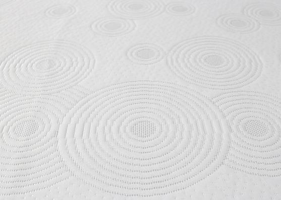 Tela de colchón ondulado 100% poliéster transpirable de diseño moderno