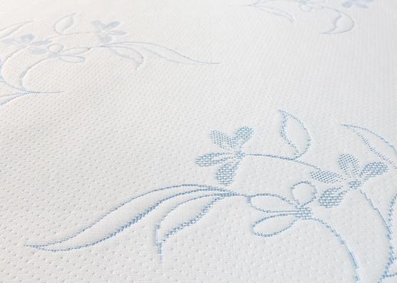 Flor azul tejer 220gsm ancho 100% poliéster jacquard tela de buena calidad
