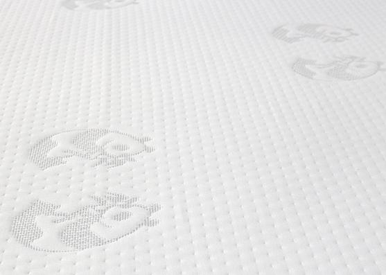 180gsm tela de tictac de colchón de punto jacquard de color blanco