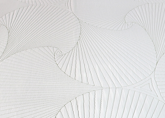 Nuevo tejido de colchón antipilling verde