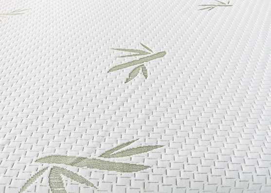 260gsm color verde 100% poliéster tejido jacquard de punto tejido de colchón