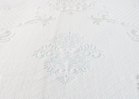 Tejido de colchón de color azul claro de 320 gsm 100% poliéster