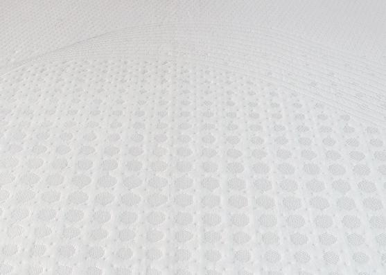 Tela de punto de viscosa al por mayor poliéster colchón topper fabric