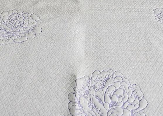 300gsm 100% nuevo tejido de punto de colchón estampado de poliéster