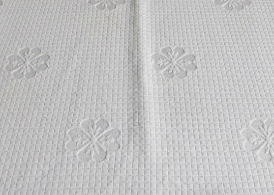 Fábrica directamente cubierta de colchón jacquard tejido de punto puro personalizado