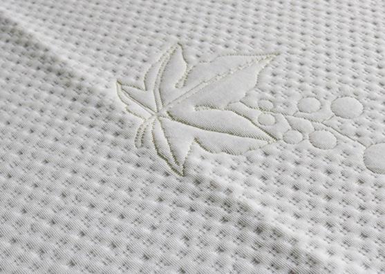 Proveedor chino de tejido de hoja de jacquard de poliéster 100% de punto blanco