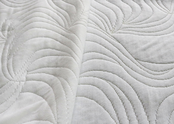 100% Tejido de poliéster color blanco colchón de punto